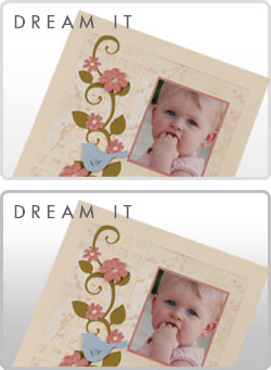 Dream It - Die cut Scrapbook Layout